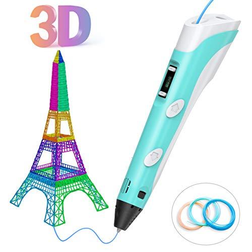 Tintec 3D Stift, 3D Druckstift 3D Stift Set 3D Pen mit LED-Bildschirm 1.75mm PLA/ABS Filament für Kinder und Erwachsene, Zeichnung und Kunstwerke