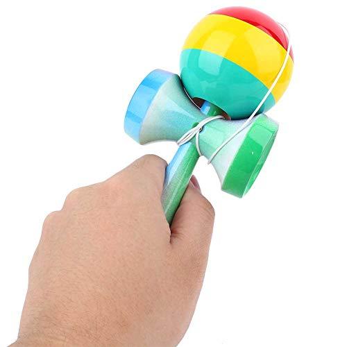 Pwshymi Kendama Toy Juego Llamativo Bright Kendama Pelota de Kendama Antideslizante para Entrenamiento