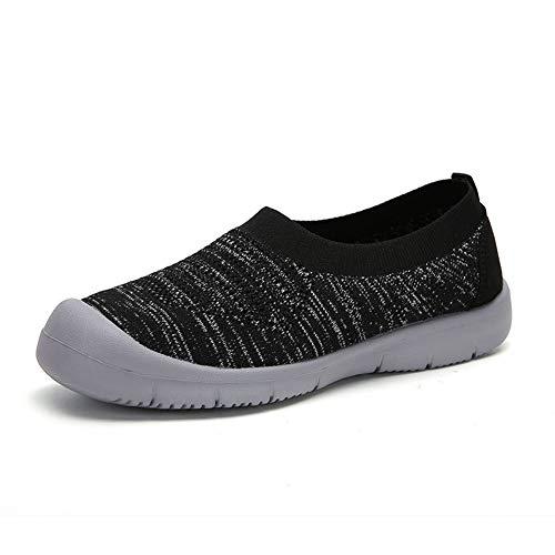 Parcclle Zapatillas de baño para hombre cerradas, zapatos descalzos para mujer, de secado rápido, antideslizantes, suaves, para actividades al aire libre, fitness 1513, color Negro, talla 38 EU