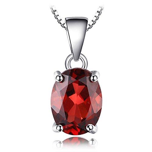 JewelryPalace 2.5ct Collar Colgante Granate Rojo Plata de ley 925 sólida