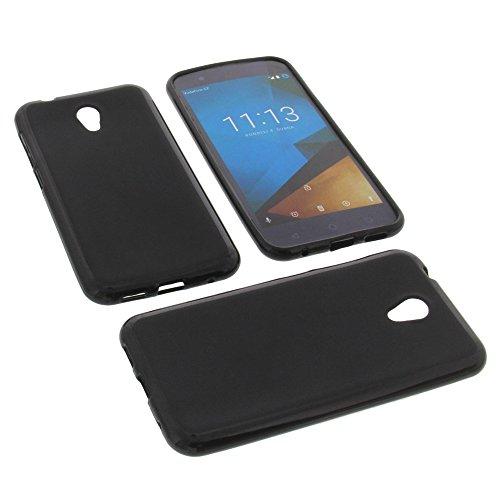 foto-kontor Tasche für Vodafone Smart Prime 7 Gummi TPU Schutz Handytasche schwarz