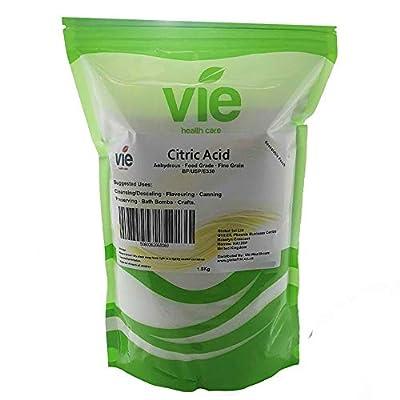 VIE Citric Acid, Pure Premium Quality, 1.8Kg