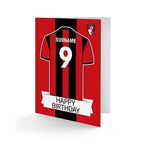 AFC Bournemouth Official Personalised Shirt Birthday Card