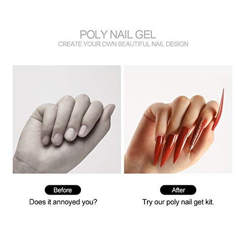 4 Colors Poly Nail Gel set with 36W LED...