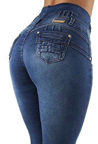 Colombian Design, Butt Lift, Push Up, High Waist, Skinny Jeans in Navy Size 13 (ML1)