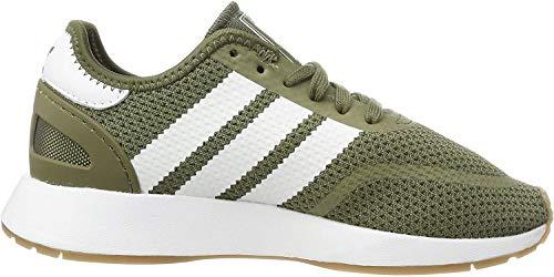 adidas Herren N-5923 Gymnastikschuhe, Grün (Raw Khaki/Ftwr White/Gum4), 38 EU(5UK)
