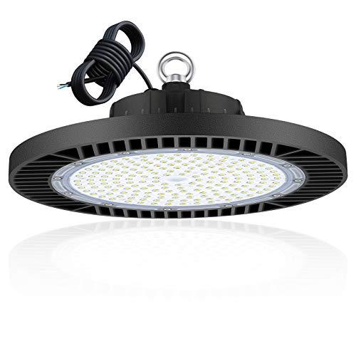 200W UFO LED Lámpara Alta Bahía, 15000LM Focos Led Interior Techo 6500K Industrial LED Iluminación Comercial Impermeable IP65,para Fábricas, Aeropuerto, Patio, Restaurante