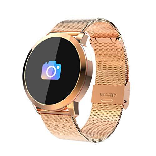 Samgu Set Orologio Intelligente per iOS E Android attività Intelligente Full OLED Touch Orologio podometro Polso Unisex Impermeabile IP67Color Monitor di frequenza del