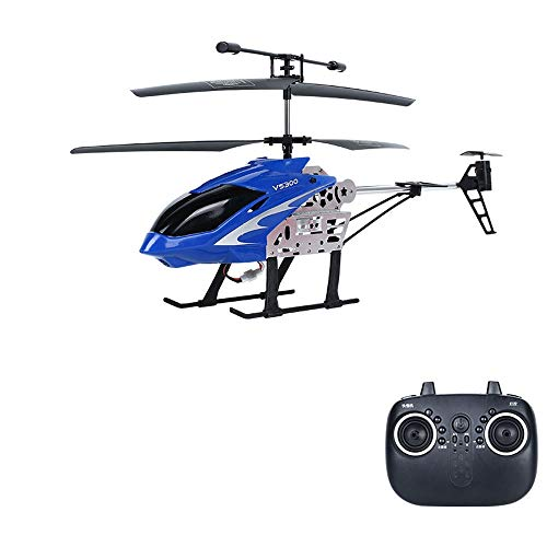 DBXMFZW Helicóptero de Control Remoto de Velocidad Ajustable 2.4G Wireless RC Airplane Toy RC Aircraft con giroscopio Incorporado USB Cargando RC Plane Regalos para Principiantes (Color : Azul)