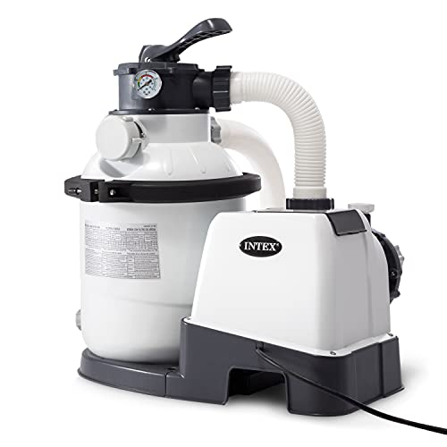 Intex Recreational Inc. 26643EG Intex-1200 Gph Sand Filter Pump (110-120 Volt) Pool, 10 in, light gray