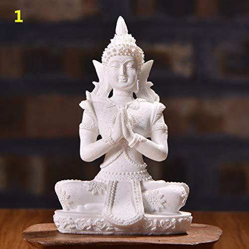 JONARO 12 Style Nature Sandstone Miniature Buddha Statue Thailand Fengshui Figurine Hindu Meditation Sculpture Home Decoration