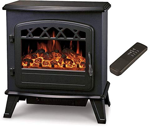 Galleon Fires'Castor' Electric Log Effect Stove Fireplace with Remote -Electronically controlled LED...