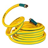 SuperHandy Garden Water Hose 5/8' Inch x 50' Feet Heavy Duty Premium Commercial Ultra Flex Hybrid Polymer Hose Max Pressure 150 PSI/10 BAR with 3/4' GHT Fittings