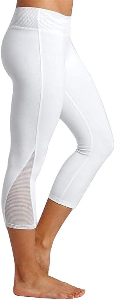 WUAI-Women High Waist Yoga Pants Stretch Tummy Control Workout Leggings Running Gym Active Tights Yoga Capris