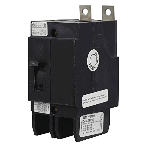 Thermal Magnetic Circuit Breaker, Bolt-On, GHB Series, 480 VAC, 250 VDC, 60 A, 2 Pole