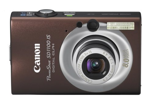 Buy Discount Canon PowerShot SD1100IS 8MP Digital Camera with 3x Optical Image Stabilized Zoom (Brow...