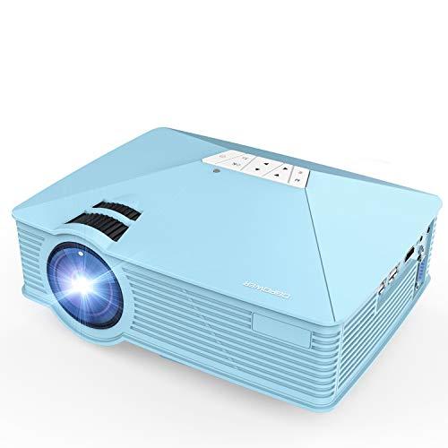 Mini Projector, DBPOWER GP15 +50% Brighter Portable LCD Mini Video Projectors,50000Hours Support 1080P HDMI USB SD Card VGA AV for Multimedia Home Cinema, Movie, TV, Laptops, Games, Smartphones, Blue