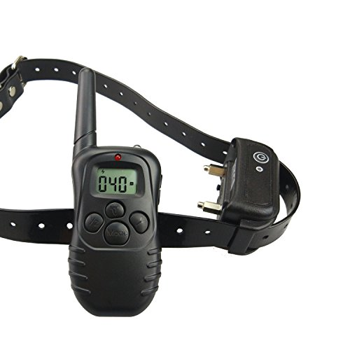 Fosinz Dog Remote Shock Vibration Training Collar with 100 Levels of Vibration Rechargeable and Waterproof Collar with Durable and Adjustable TPU Strap