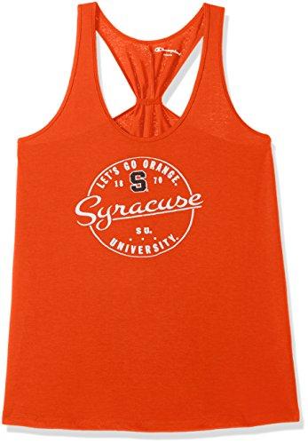 Champion NCAA Syracuse Orange Women's Eco Swing Tank, Large, Orange
