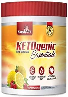 Ketogenic Essentials Exogenous Ketones Keto Powder Drink Mix - BHB Ketones - Zero Sugar, Zero Carbs, Zero Caffeine - Inch and Weight Loss - Raspberry Lemonade