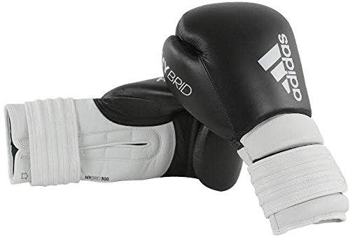 Adidas Hybrid 300 Boxhandschuhe, Schwarz / Weiß, 454 g