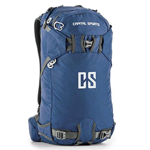Capital Sports CS 30 - Sac à Dos Sport et Loisirs (randonnée, Marche, Camping) en Nylon étanche d'un Volume de 30L avec Dos renforcé (Ceinture avec Poches pour accès Rapide, Sangles réglables) - Bleu