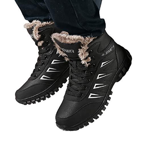 WggWy Mantener Abrigados Botas De Nieve Impermeables para Hombres, Botas Gruesas Algodón...