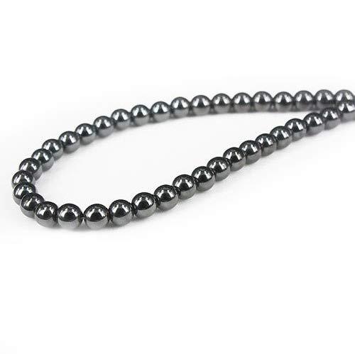 【血液に力を与える】天然石 ヘマタイト磁気ネックレス/6mm