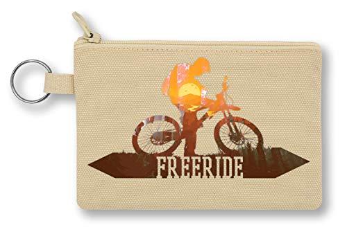 Freeride Downhill Mountain bike   MTB Riding Portafoglio con cerniera per portamonete