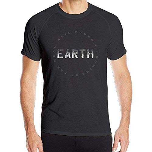Unbekannt Men's Neil Young Earth Tour 2020 Logo Quick Dry Athletic Tshirt M