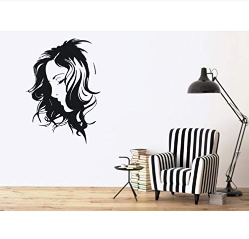 Zwyluck Salon muursticker muurschildering meisje kamer Art Deco behang 32 * 50 cm