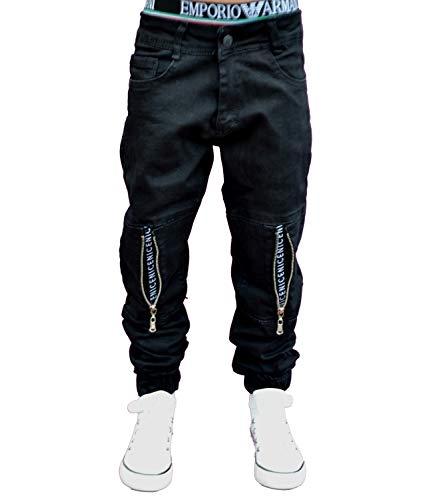 NM KIDS 5331 JoggJeans Hose Junge Kinder (122, Schwarz)