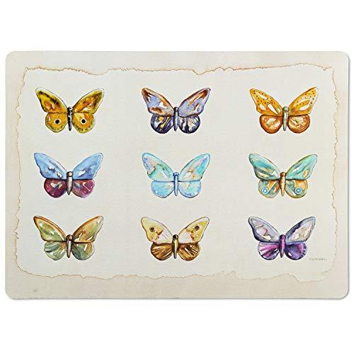 Abbott Collection 27-TABLEMAT-WR-06 - Mantel individual (33 x 45 cm), diseño de cuadros, color beige y multicolor
