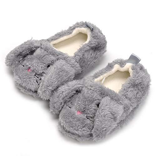 TeasyDay Warme Hausschuhe Kinder, Jungen-Mädchen-Karikatur-Tier weiche alleinige beiläufige Schuhe, Kinder Pre Walker Schuhe