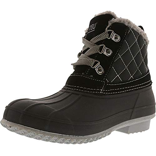Khombu Womens Dixie Cold Weather Fur Lined Winter Boots Black 7 Medium (B,M)