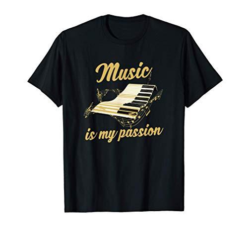 Pianist Geschenk Klavierspieler Piano Klavier T-Shirt