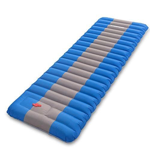 Overmont Sleeping Pad Self Inflating Lightweight Waterproof Inflatable Camping Mattress Pad