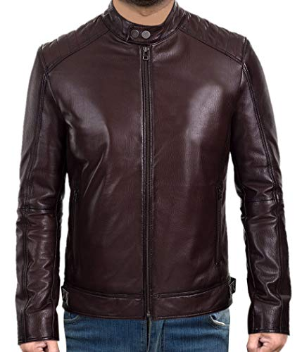 Western Fashions Herren Damen Lederjacke, Casual, Schokoladenbraun Gr. 5XL/Brust 173 cm, Schokoladenbraun