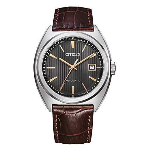 Citizen Reloj automático para hombre marrón/antracita NJ0100-03H