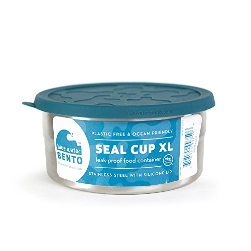 ECOlunchbox | Blue Water Bento | Seal Cup XL, Runddose aus Edelstahl...