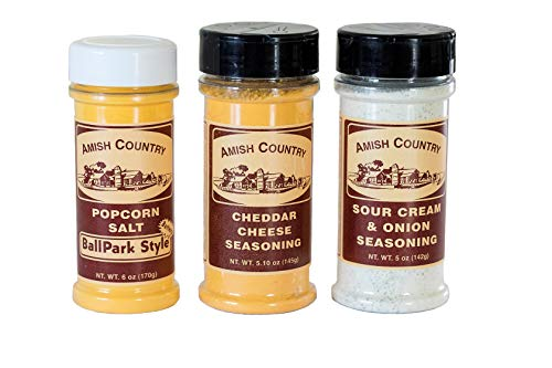 Why Should You Buy Amish Country Popcorn | Seasoning Variety Pack | 6 oz BallPark Style ButterSalt -...