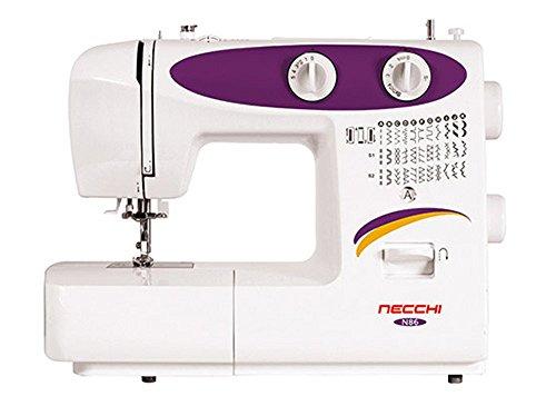 Necchi N86 - Máquina de coser (Púrpura, Blanco, Costura, Paso 4, 4 mm, Giratorio, 5 mm)
