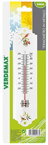 Verdemax 4466 200 x 51 mm en métal Thermomètre avec Image coloré