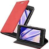 Cadorabo Hülle für Nokia Lumia 929/930 in Apfel ROT - Handyhülle mit Magnetverschluss, Standfunktion & Kartenfach - Hülle Cover Schutzhülle Etui Tasche Book Klapp Style