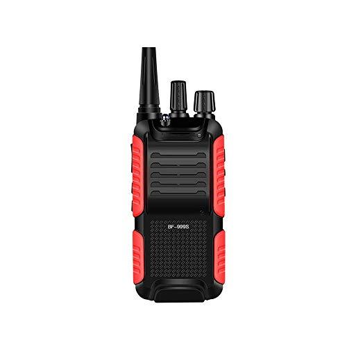 HDCDKKOU 5W Profesional walkie Soporte de Carga USB de 16 Canales de Memoria, 1800mAh de Alta Capacidad, for la Construcción/Hotel/al Aire Libre (Negro y Rojo)