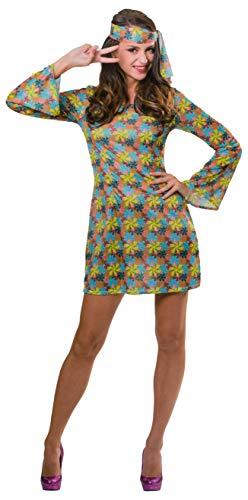 Brandsseller Damen Kostüm Verkleidung Fasching Karneval Party - Hippie - L/XL