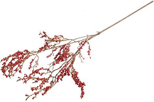 DPI künstlicher weihnachtlicher Beerenzweig mit Glitzer (rot)