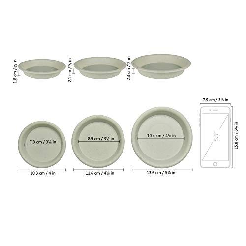 T4U 10.3cm プラスチック 鉢受皿トレー プランター用受皿 プレート ラウンド ライトグレー 10個入り