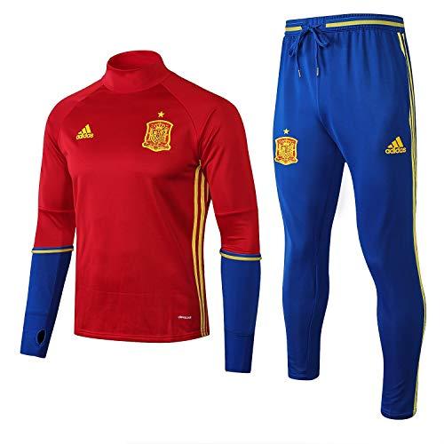 SQUZEA España ropa deportiva de manga larga, de los hombres de manga larga uniforme de fútbol chándal del club competición uniforme de la juventud regalo correr arriba y pantalones de ropa de hombre d