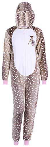 -:- Bambi -:- Disney -:- Brauner einteiliger Pyjama XS